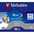 Verbatim BD-R Blu-Ray, 25Gb, 4x, 1 шт, jewel, printable (43669)