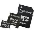 Transcend microSD Card 2GB + 2 адаптера miniSD, SD