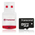 Transcend microSD Card (TransFlash) 2GB + reader P3