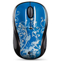 "Logitech M305 Nano Wireless Mouse ""Blue Flourish"" (910-001644)"