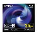 TDK BD-R Blu-Ray, 25Gb, 4x, 1 шт, jewel (BD-R25JC4EB)